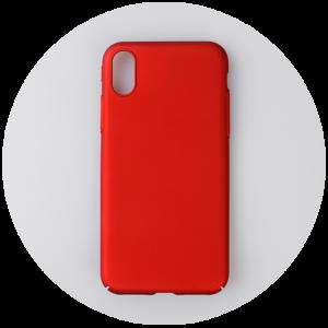 Красные пластиковый чехол на iPhone